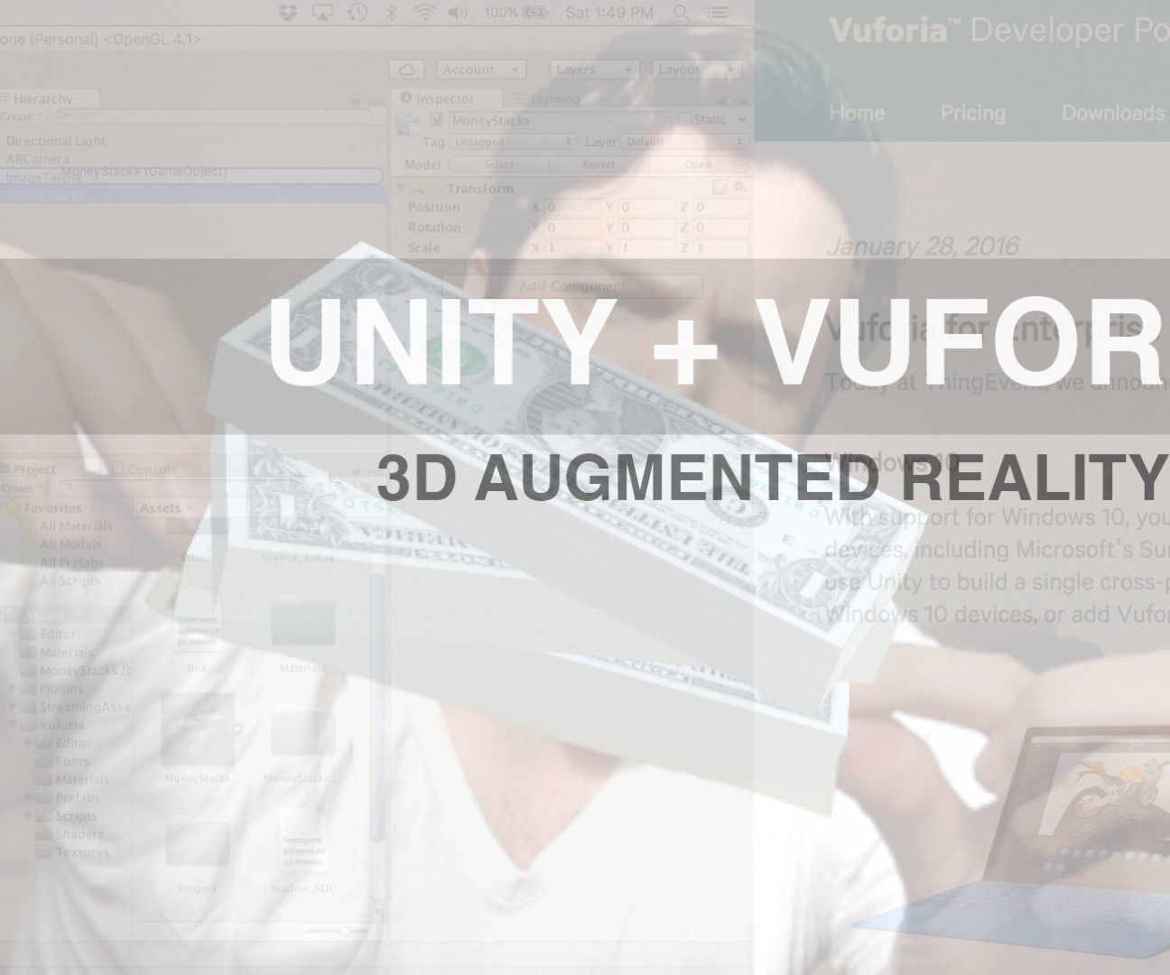 3D Augmented Reality with Vuforia