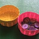 Round Cardstock Basket using Silhouette