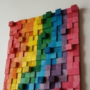 Wooden Rainbow Wall Art