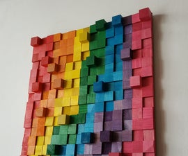 Wooden Rainbow Wall Art