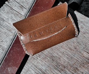 How to Make a LEATHER FLAP WALLET - TUTORIAL - WITH PICTURES