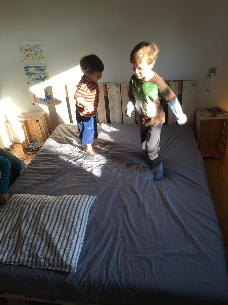 Install Mattress, Allow Children to Tenderize It.