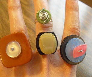 Vintage (or Walmart!) Button Cocktail Rings