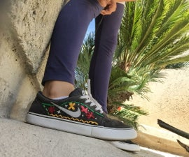 Embroidered Sneakers :D