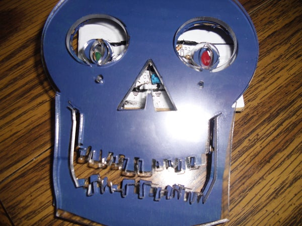 Skull With Twitching LED Eyes (OMG, Omaha Makers Group)