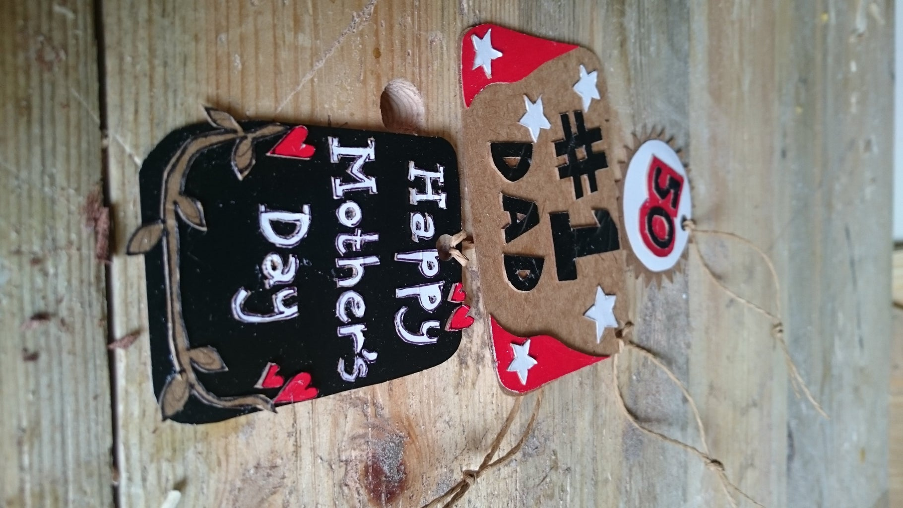 3 Different Gift Tags From One Coke Zero Box - Mothers Day/Fathers Day/50th Birthday