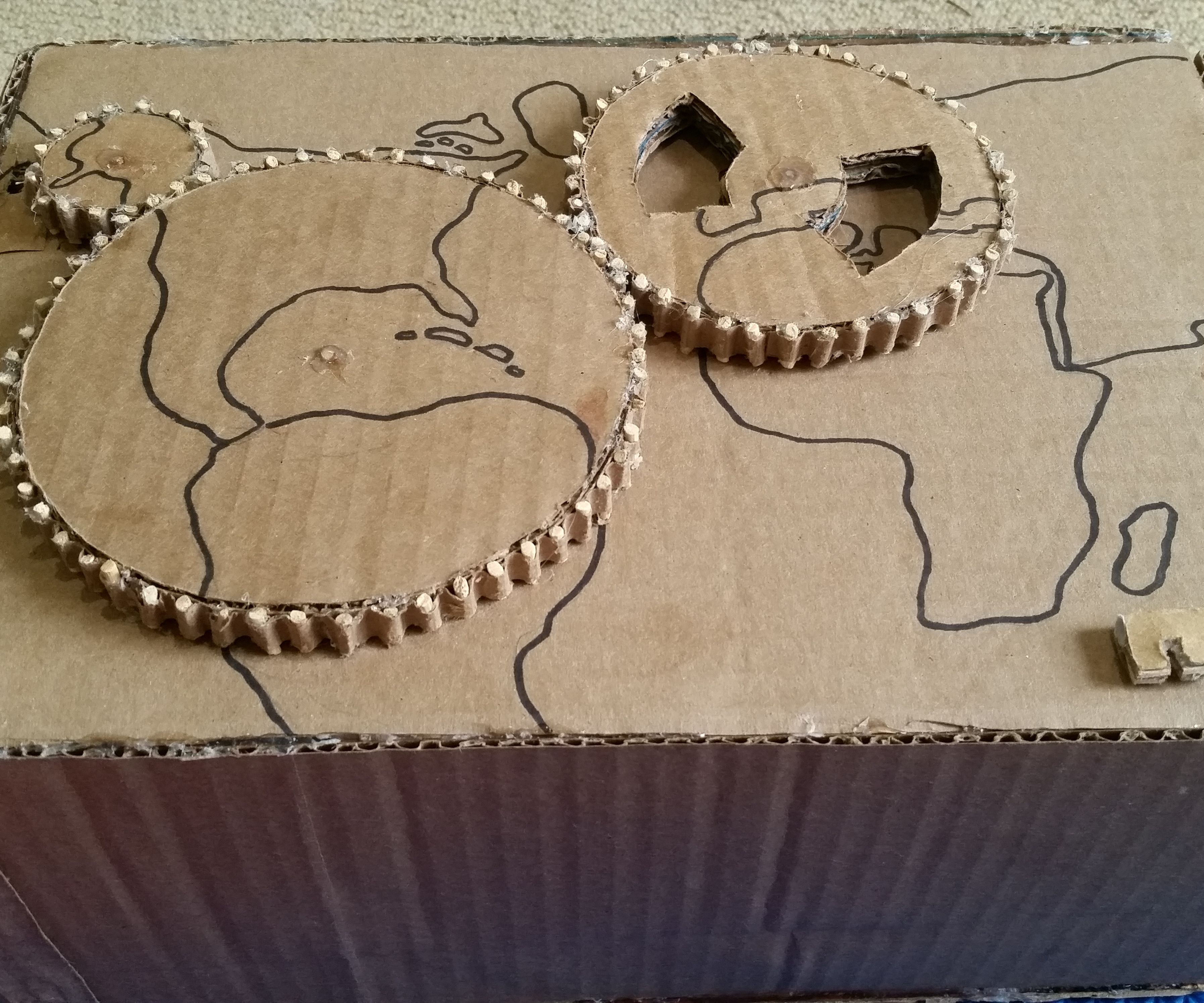 Cardboard Steampunk Puzzle Box
