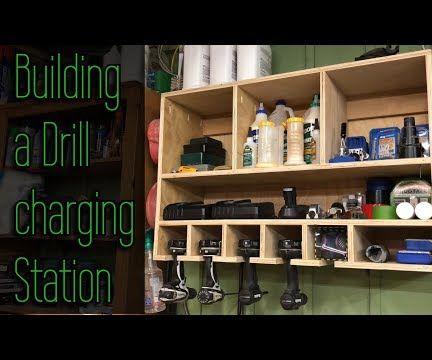 DIY Drill Charging Station & Organizer