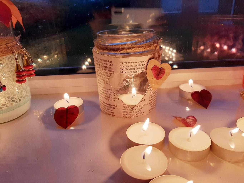 Jar 2 : NewsPaper Heart Shaped Jar