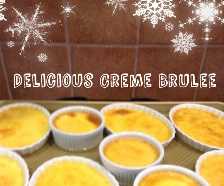 Delicious Creme Brulee With Burnt Sugar