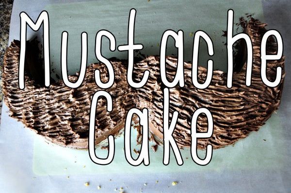 Easy Mustache Cake for Father's Day