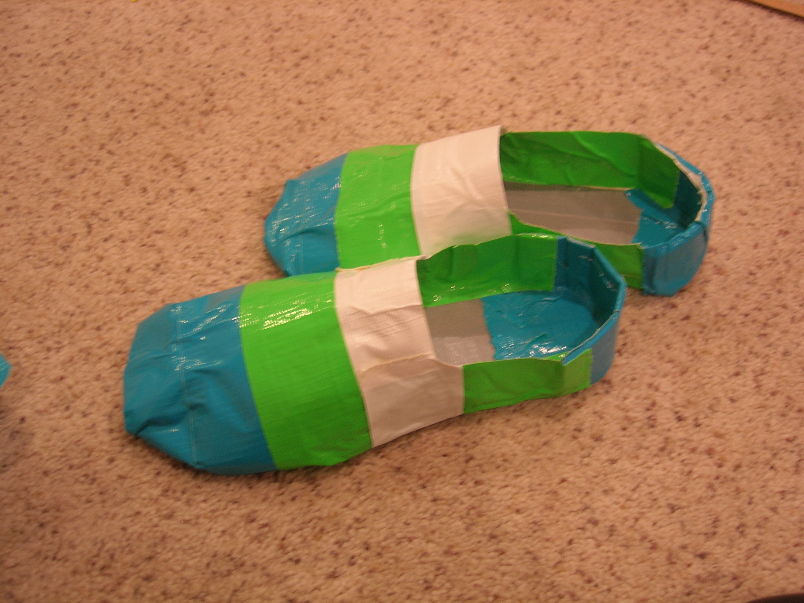 Duct Tape Shoes(Remake With Laces!)