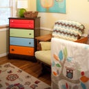 Paint an old dresser to really tie the room together