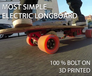 Easy DIY 3D Printed Electric Longboard!