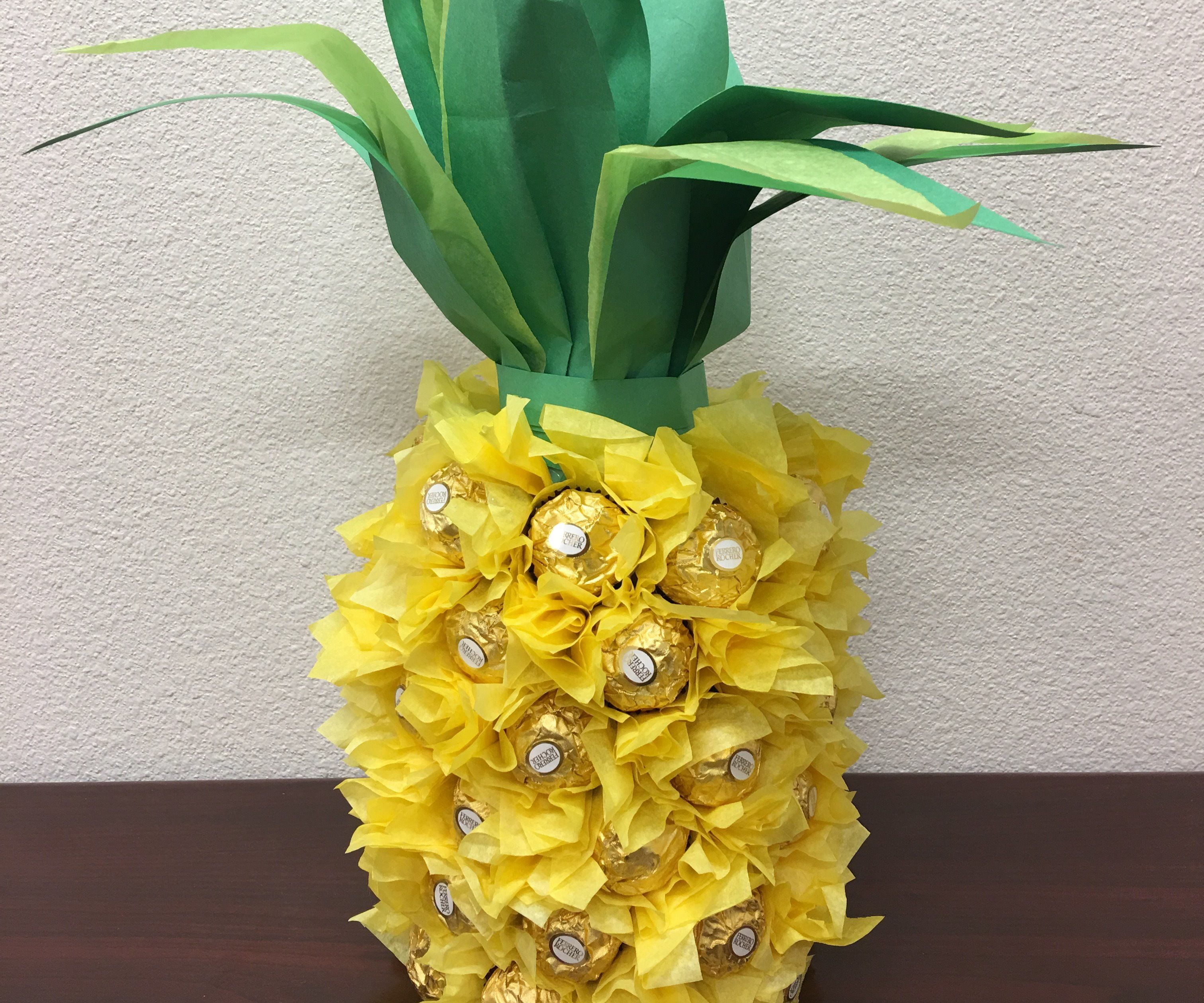 Pineapple Wrapped Bottle of Wine