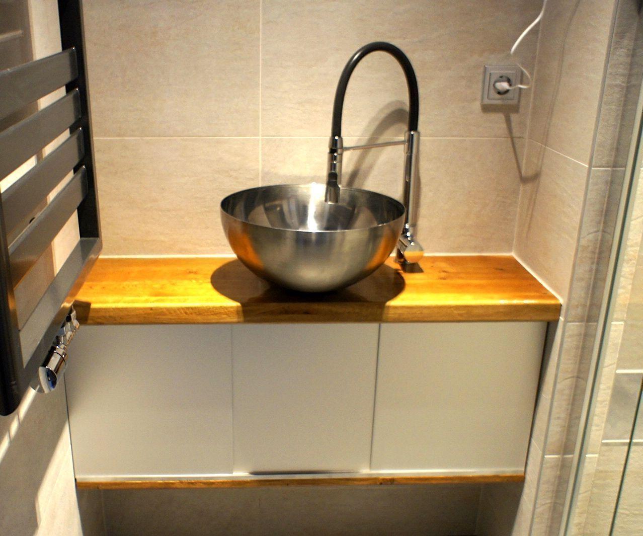 Bathroom cabinet with Ikea bowl