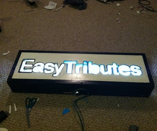 DIY Backlit Wood Sign - (from Jumpfroggy's 'ible)