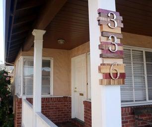 Scrap Wood House Numbers