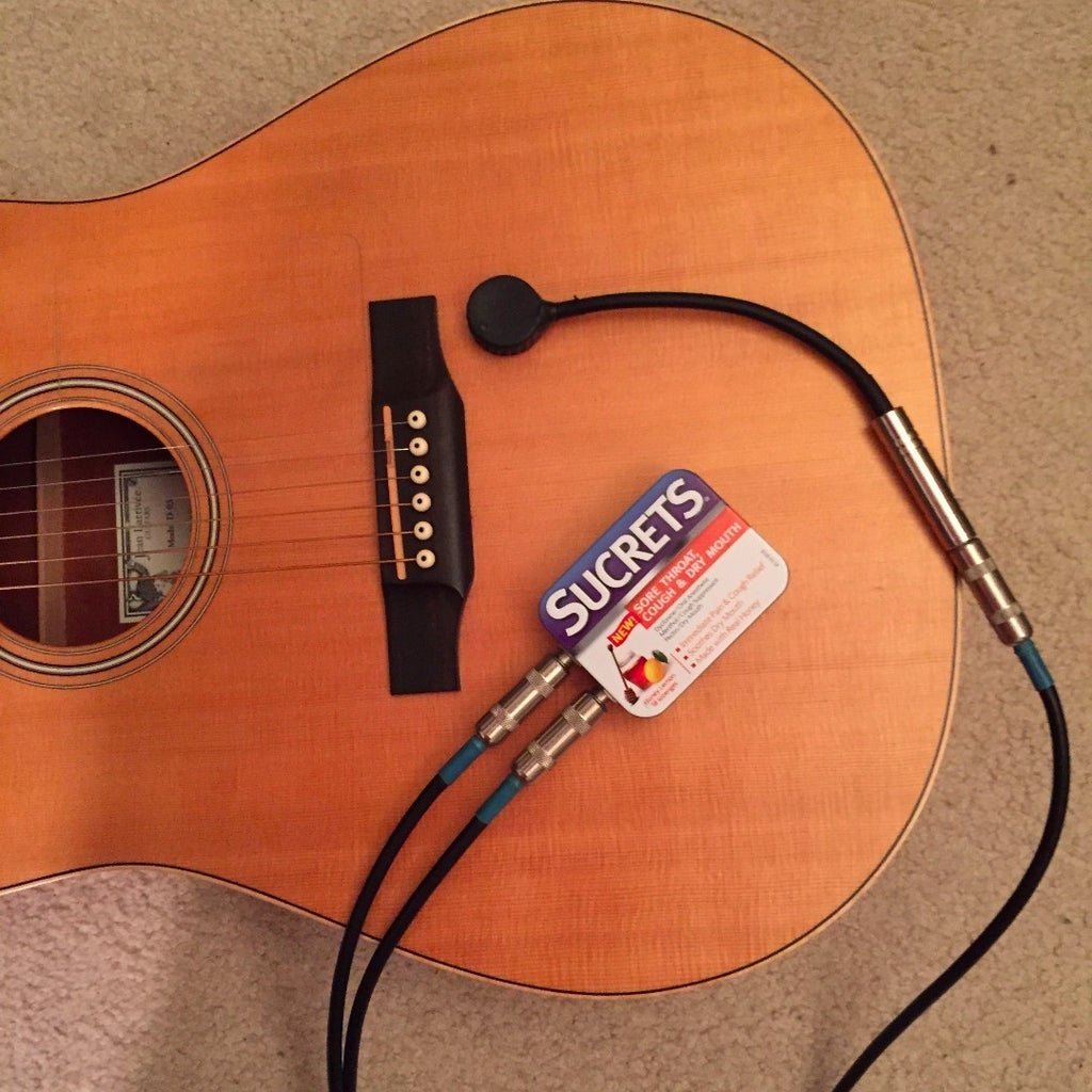 Using the Contact Mic As a Guitar Pickup