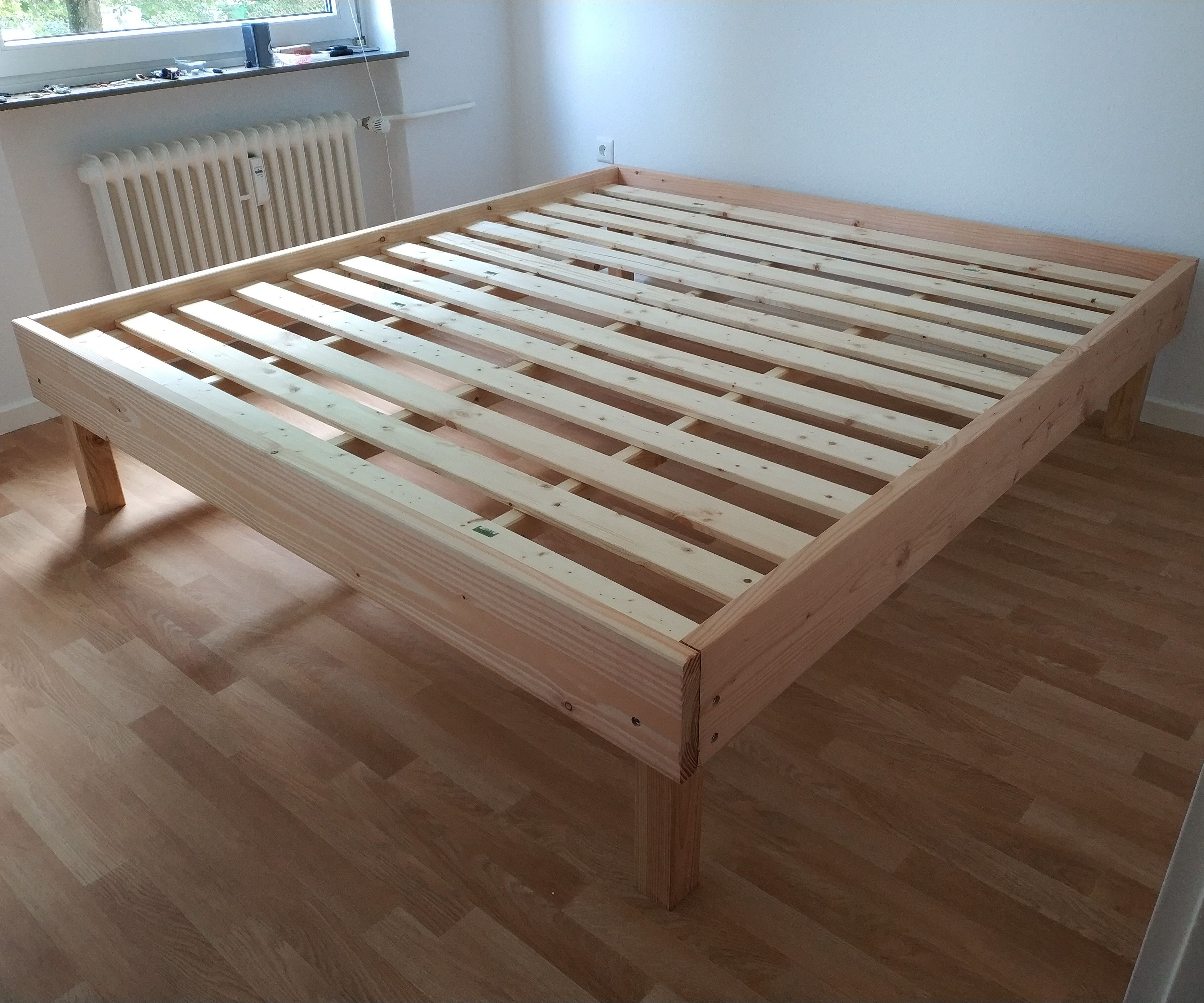 Robust And Inexpensive Bed Frame 7 Steps With Pictures Instructables
