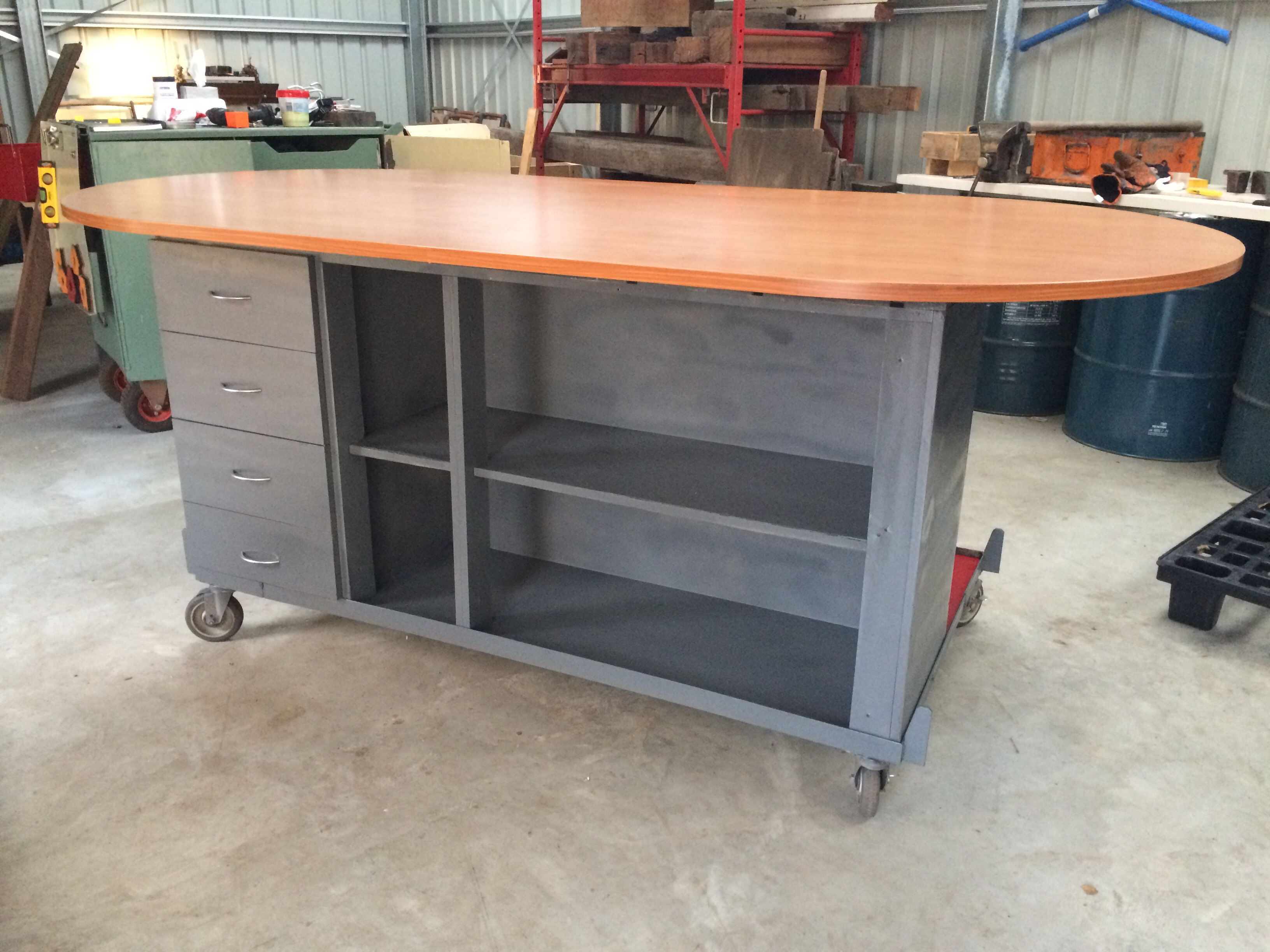 Workshop Island From Kitchen Unit