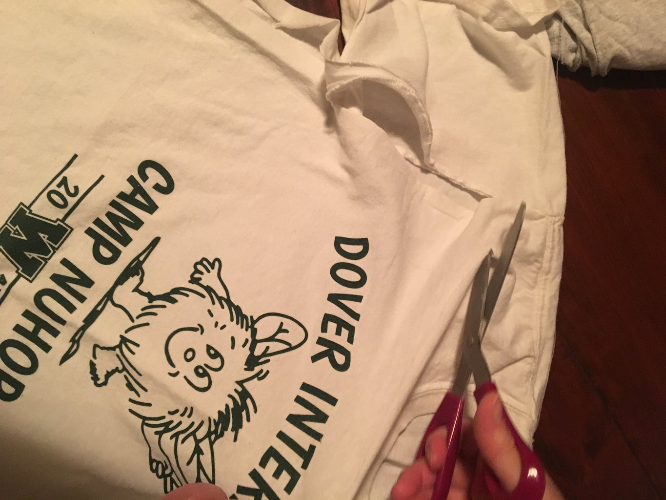 Cutting and Cropping the Shirts
