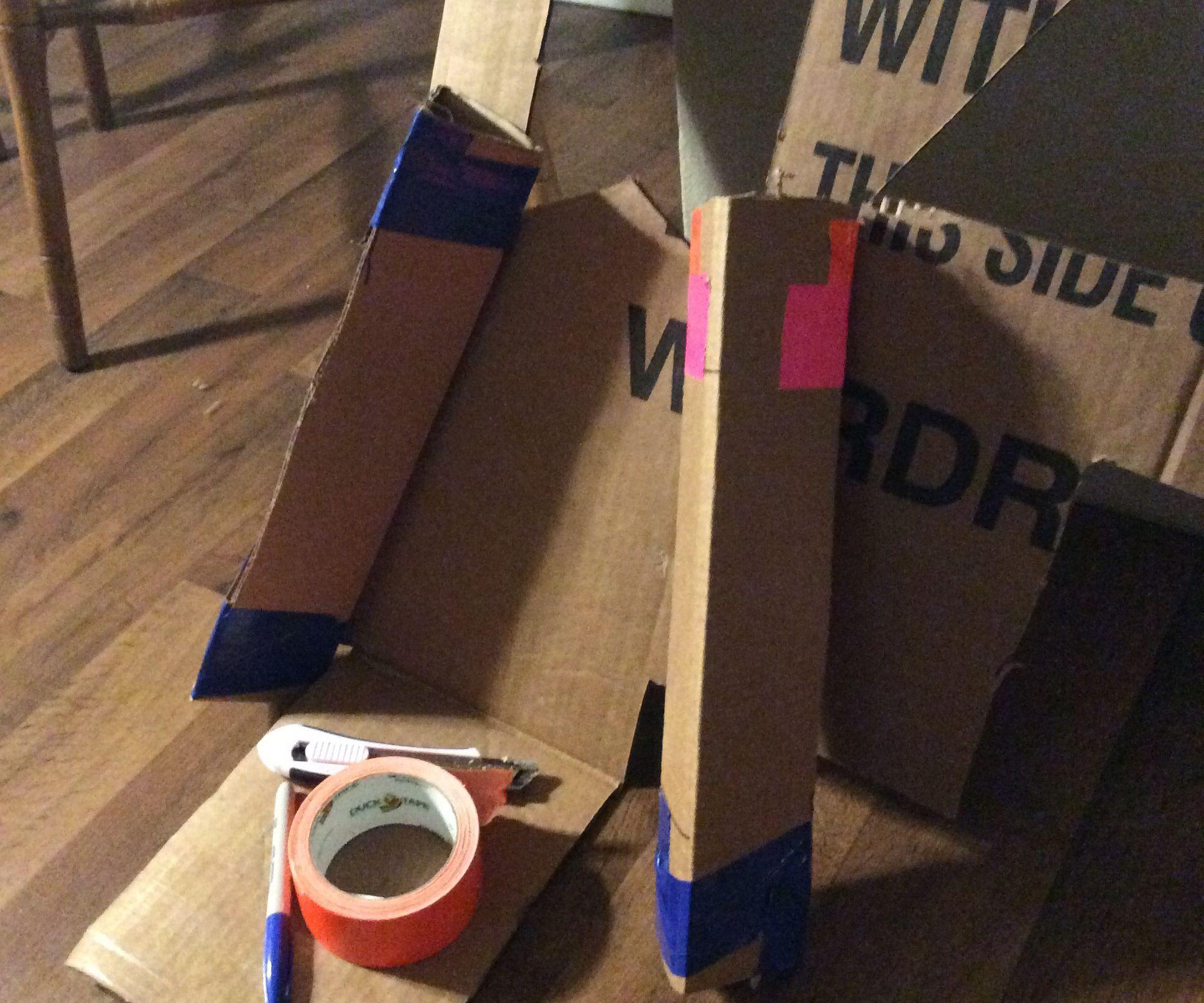 Cardboard Triangle Tube