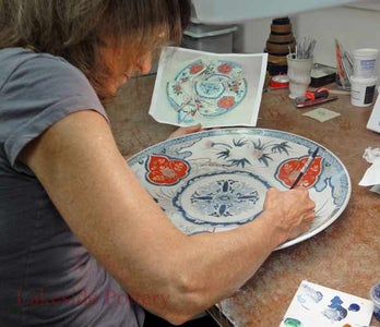 """Painting and """"cold Glazing"""" the Bonded and Filled Pot"""