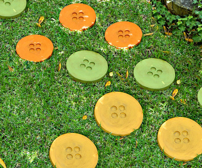 Button Stepping Stones