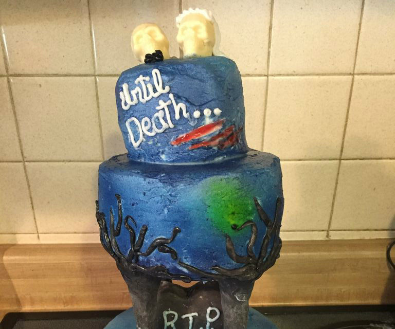 Ghoulishly Bleeding Wedding Cake