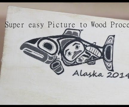 Transfer a picture or printed image to wood, wood transfer