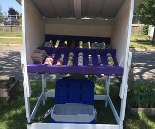 Neighborhood Free Food Stand Made From Pallets