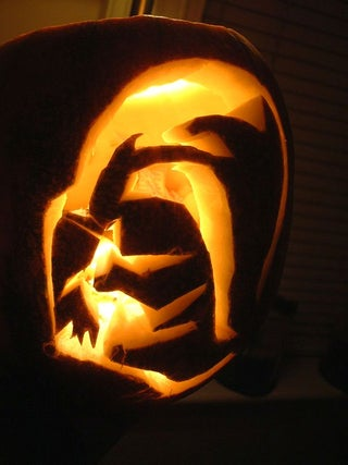 Make A Spooky Darth Vader Pumpkin 4 Steps With Pictures Instructables