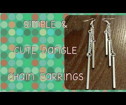 Simple & Cute Dangle Chain Earrings