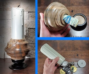 Candle Holder With Two Secret Compartments