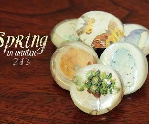 Spring in Winter: Magnet Art