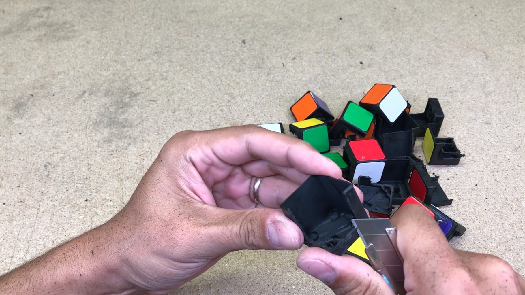 Cut Out Internal Plastics