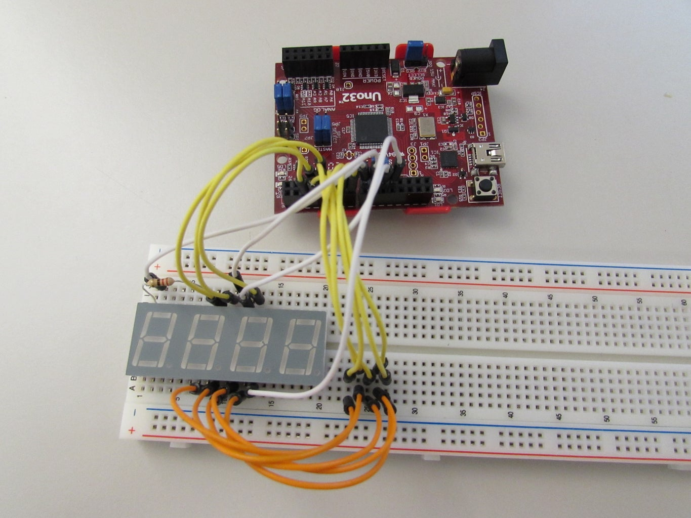 Setting Up the Circuit- the 7 Segment Display