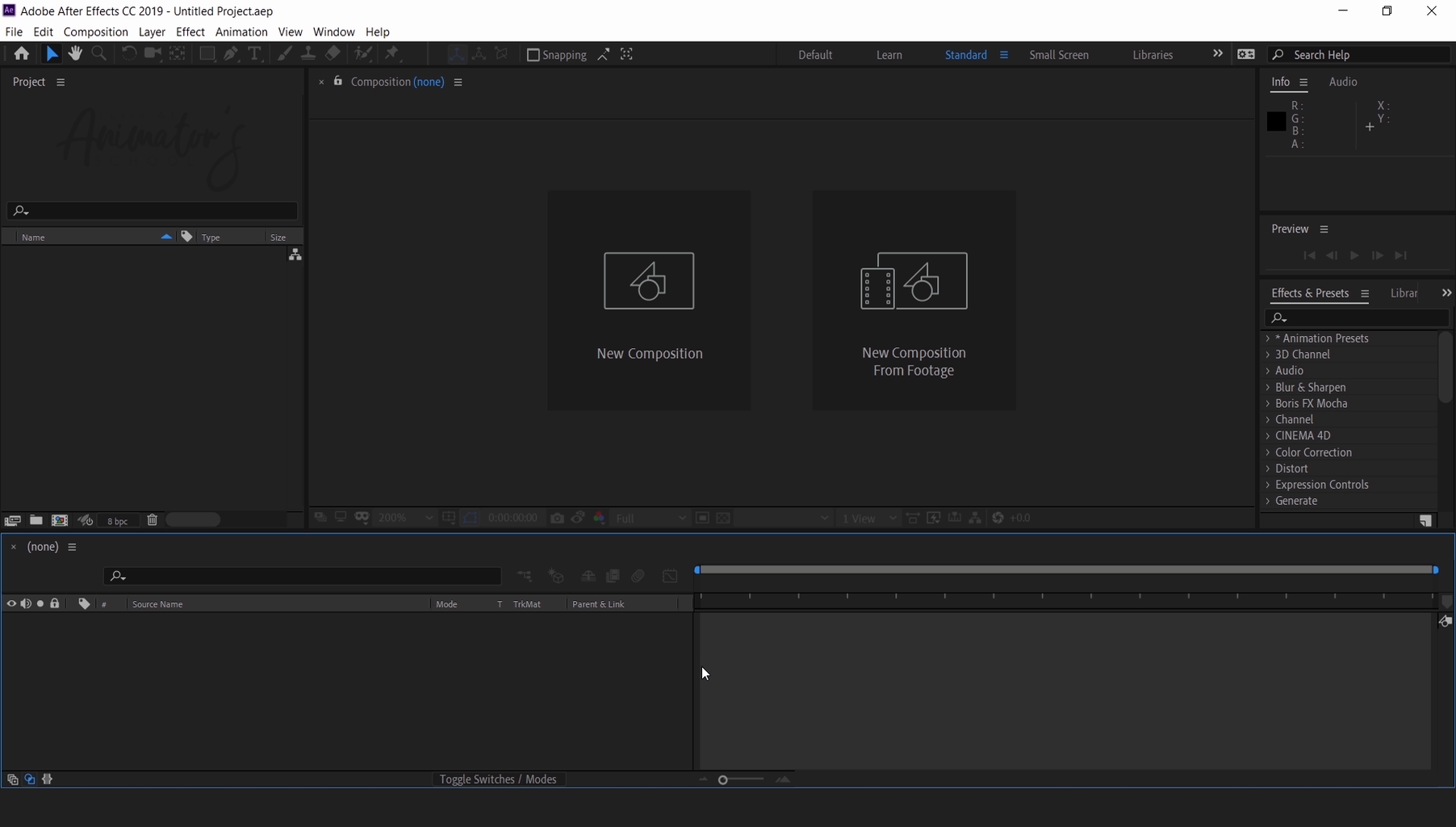 Knowing All the Panels in After Effects