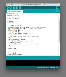 Uploading the IoT Gauge Web Service Arduino Code