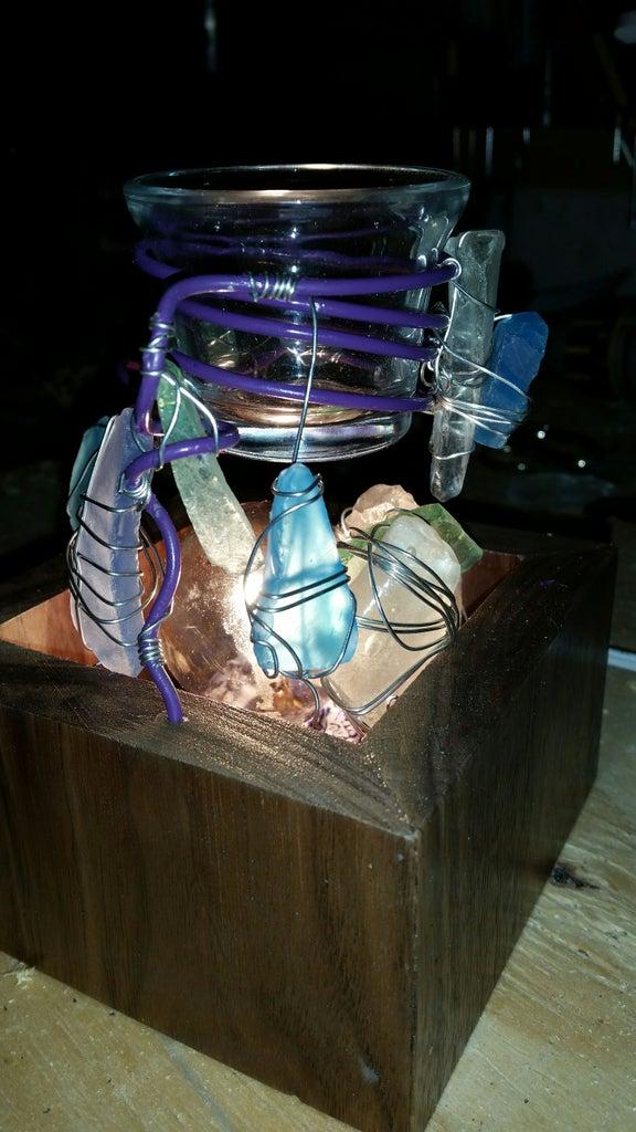 DIY Walnut Sea Glass Wax Cube Warmer