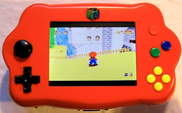 How to make a handheld portable Nintendo 64 N64 gaming console - iNto64