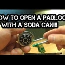 How to Pick a Lock- With a Soda Can ?
