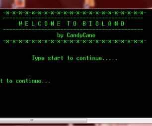 BIOLAND: Batch RPG Starting Point