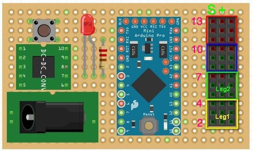 Connect Servos to the Main-board
