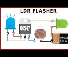 LED Flasher Circuit With LDR