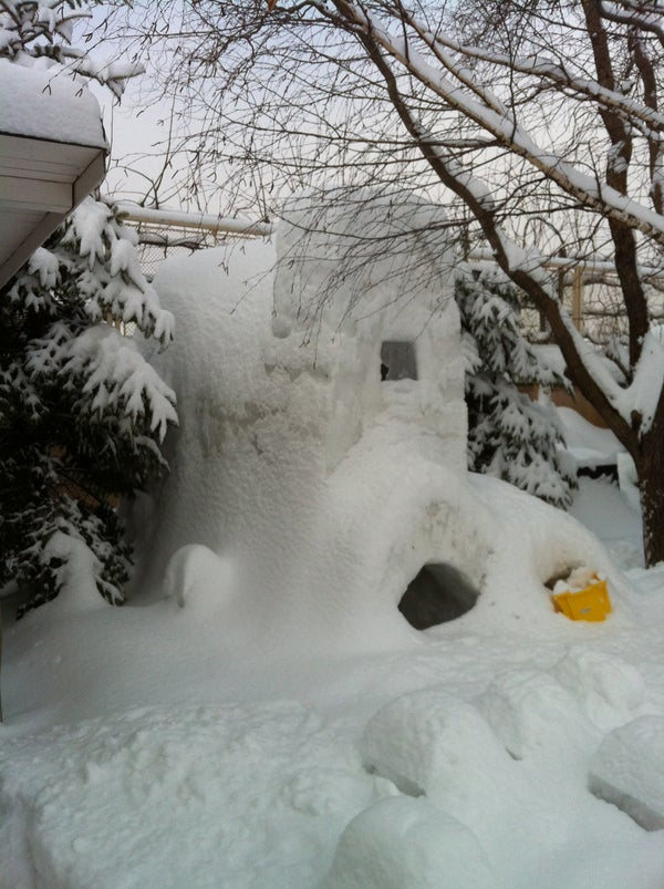How to Make the Massive 3 Floor Snow Fort.