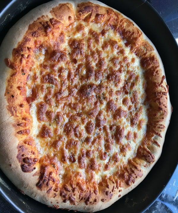 Deep Pan Cheesy Stuffed Crust Texas Pizza