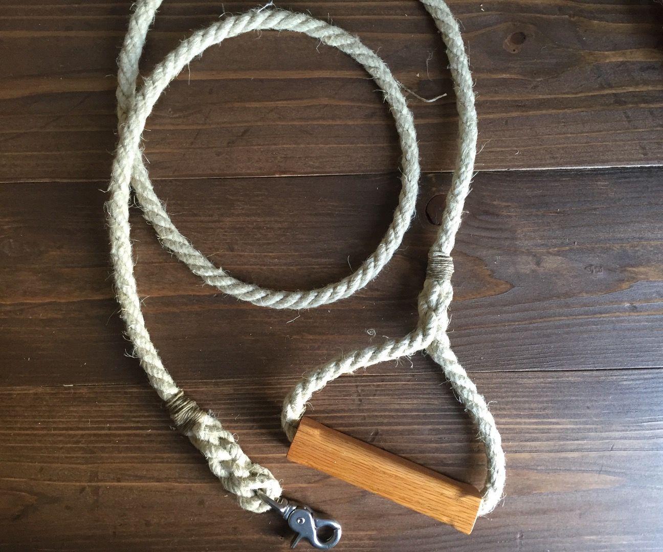 Wood and Rope Dog Leash