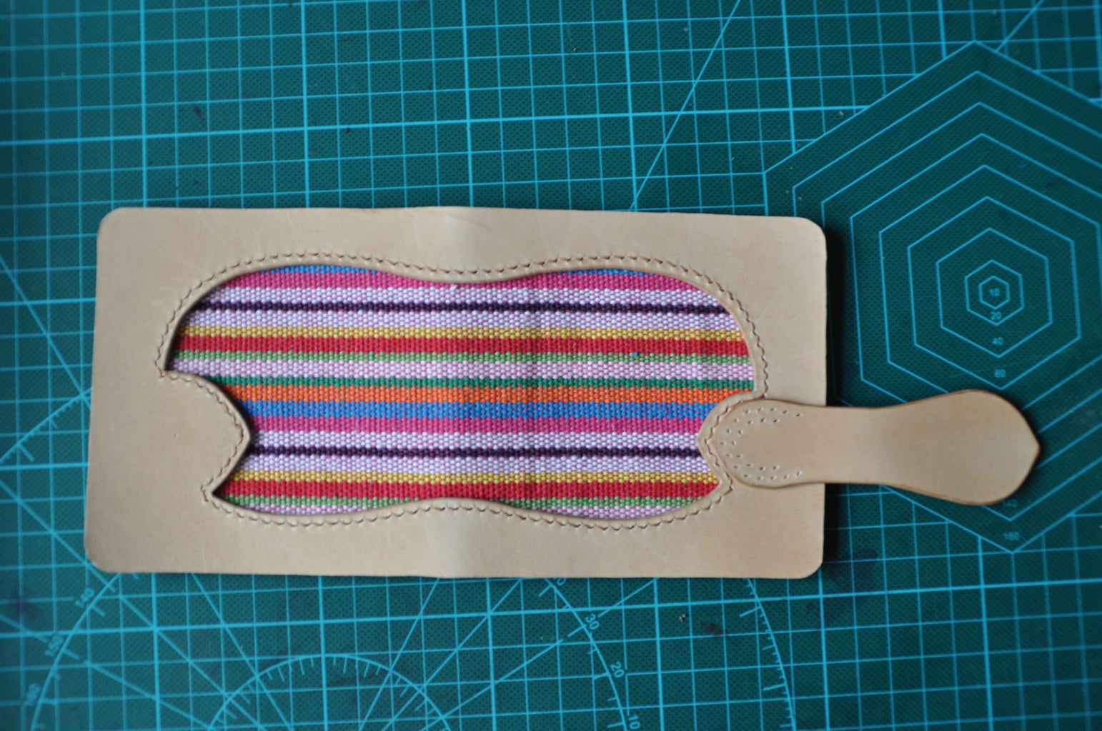 Paste the Strap on and Pierce Stitch Marks.
